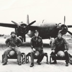 Ray Bankston (L) in England with crew-WWII-RGB