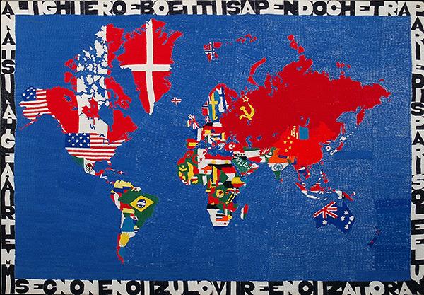 Aligiero Boetti, Mapa del Mundo, 1979