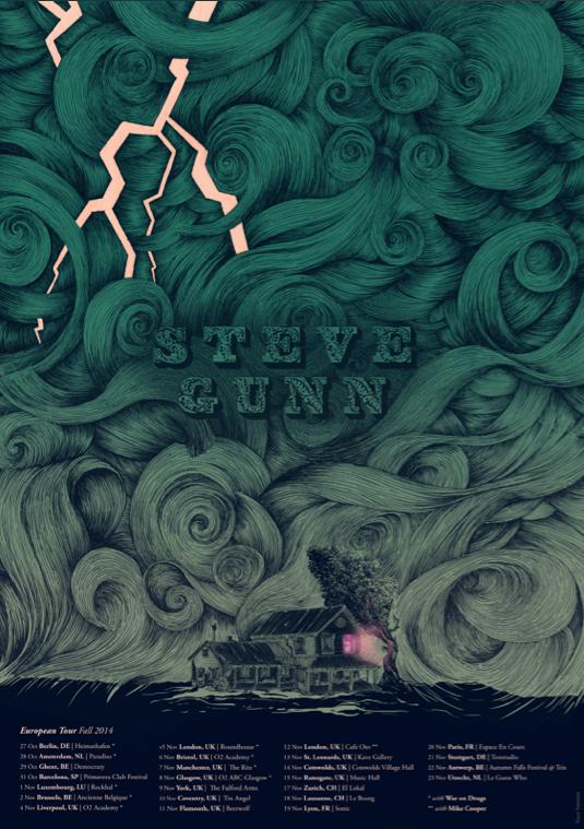 Steve Gunn EU tour poster
