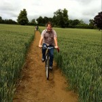 Jake on bicycle